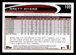 2012 Topps #169  Brett Myers  Back Thumbnail
