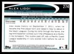 2012 Topps #274  Alex Liddi  Back Thumbnail