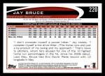 2012 Topps #220  Jay Bruce  Back Thumbnail