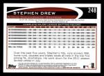 2012 Topps #248  Stephen Drew  Back Thumbnail