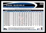2012 Topps #355  Mark Buehrle  Back Thumbnail