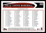 2012 Topps #360   -  Nelson Cruz Record Breaker Back Thumbnail