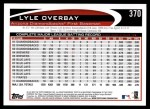 2012 Topps #370  Lyle Overbay  Back Thumbnail
