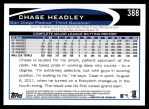 2012 Topps #388  Chase Headley  Back Thumbnail