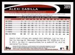 2012 Topps #389  Alexi Casilla  Back Thumbnail