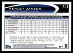 2012 Topps #401  Kenley Jansen  Back Thumbnail