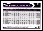 2012 Topps #431  Guillermo Moscoso  Back Thumbnail