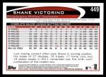 2012 Topps #449  Shane Victorino  Back Thumbnail
