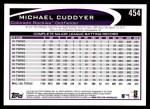 2012 Topps #454  Michael Cuddyer  Back Thumbnail