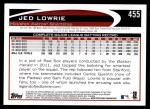 2012 Topps #455  Jed Lowrie  Back Thumbnail