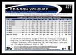 2012 Topps #477  Edinson Volquez  Back Thumbnail