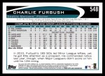 2012 Topps #548  Charlie Furbush  Back Thumbnail