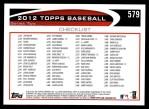 2012 Topps #579   -  Dan Uggla Record Breaker Back Thumbnail