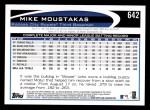 2012 Topps #642  Mike Moustakas  Back Thumbnail
