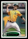 2012 Topps #652  Grant Balfour  Front Thumbnail