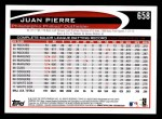 2012 Topps #658  Juan Pierre  Back Thumbnail