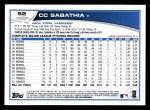 2013 Topps #52  CC Sabathia   Back Thumbnail