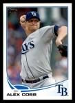 2013 Topps #53  Alex Cobb   Front Thumbnail