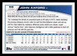 2013 Topps #59  John Axford   Back Thumbnail