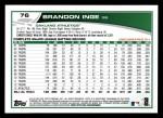 2013 Topps #76  Brandon Inge   Back Thumbnail