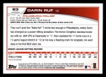 2013 Topps #83  Darin Ruf   Back Thumbnail