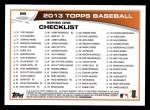2013 Topps #89  Johan Santana   Back Thumbnail