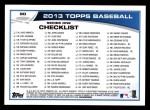 2013 Topps #90  Andy Pettitte   Back Thumbnail