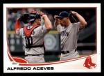 2013 Topps #91  Alfredo Aceves   Front Thumbnail