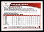 2013 Topps #96  Edward Mujica   Back Thumbnail