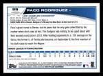 2013 Topps #99  Paco Rodriguez   Back Thumbnail