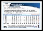 2013 Topps #107  Joe Mauer   Back Thumbnail