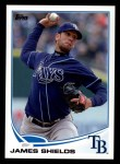 2013 Topps #133  James Shields   Front Thumbnail