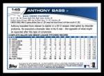2013 Topps #145  Anthony Bass   Back Thumbnail