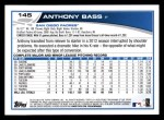 2013 Topps #145  Anthony Bass   Back Thumbnail