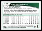 2013 Topps #160  Stephen Drew   Back Thumbnail