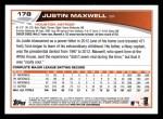2013 Topps #178  Justin Maxwell   Back Thumbnail