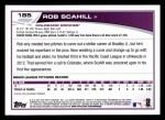 2013 Topps #185  Rob Scahill   Back Thumbnail