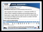 2013 Topps #232  Jake Odorizzi   Back Thumbnail