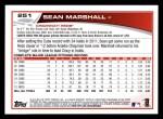 2013 Topps #251  Sean Marshall   Back Thumbnail
