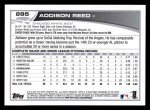 2013 Topps #285  Addison Reed   Back Thumbnail