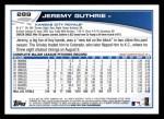 2013 Topps #289  Jeremy Guthrie   Back Thumbnail
