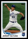 2013 Topps #289  Jeremy Guthrie   Front Thumbnail