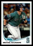 2013 Topps #297  Michael Saunders   Front Thumbnail