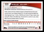 2013 Topps #305  Shelby Miller   Back Thumbnail