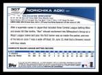2013 Topps #307  Norichika Aoki   Back Thumbnail