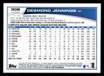 2013 Topps #308  Desmond Jennings   Back Thumbnail