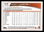 2013 Topps #312  Scott Hairston   Back Thumbnail