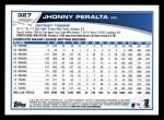 2013 Topps #327  Jhonny Peralta   Back Thumbnail