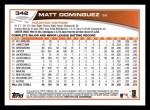 2013 Topps #342  Matt Dominguez  Back Thumbnail