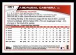 2013 Topps #351  Asdrubal Cabrera  Back Thumbnail